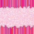 Pink checkered background with colorful strips in front Stock Images