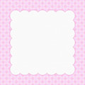 Pink checkered celebration frame for your message or invitationd Stock Image