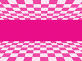 Pink checkered texture and white Stock Photo