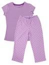 Pink childrens girls pajama set isolated on white background Stock Photos