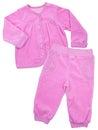 Pink childrens girls pajama set isolated on white background Royalty Free Stock Photography