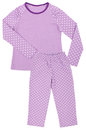 Pink childrens girls pajama set isolated on white background Stock Image
