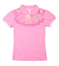 Pink childrens t shirt on the background Royalty Free Stock Photos