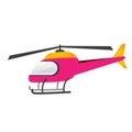 Pink chopper on a white