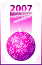 Pink Christmas Ball - Vector Royalty Free Stock Images