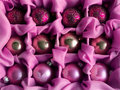 Pink Christmas balls Royalty Free Stock Photo
