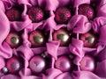Pink Christmas balls Stock Photography