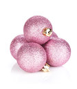 Pink Christmas Baubles
