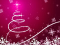 Pink christmas tree background means snowing and freezing meaning Royalty Free Stock Photo