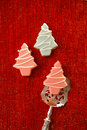 Pink christmas tree homemade sweets Royalty Free Stock Photo