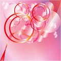 Pink circles background in glamour style Stock Photos
