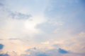Pink cloudy sky Royalty Free Stock Photo