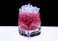 Pink Cocktail with ice Royalty Free Stock Photo