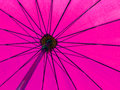 Pink color umbrella close up Royalty Free Stock Image