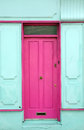 Pink colored door Royalty Free Stock Photo
