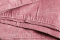 Pink corduroy close up of the seam on trousers Royalty Free Stock Photo