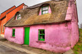 Pink cottage house in Doolin Royalty Free Stock Photo