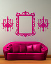 Pink couch with standard lamp Stock Photos
