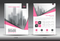Pink Cover Annual report brochure flyer template creative design