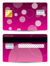 Pink credit card with dots and circles Stock Image