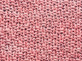 Pink crochet knit sweater background Royalty Free Stock Images
