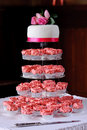 Pink cup cakes at wedding Stock Photography