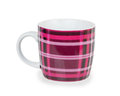 Pink cup isolated on white background Royalty Free Stock Image