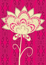 Pink damask flower Royalty Free Stock Image