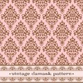 Pink damask pattern Royalty Free Stock Image