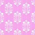 Pink damask pattern Royalty Free Stock Images