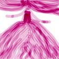 Pink dancer in tutu dress Royalty Free Stock Photo