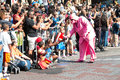 Pink Darth Vader Interacts With Atlanta Dragon Con Parade Spectators Royalty Free Stock Photo