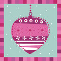 Pink decoration greeting card Royalty Free Stock Images