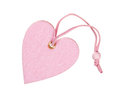 Pink decorative fabric heart isolated Stock Image