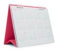 Pink Desk Calendar Royalty Free Stock Photo