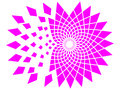 Pink destruction of cute mandala explosion Royalty Free Stock Photos