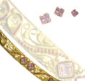 Pink diamond bangle Royalty Free Stock Photography