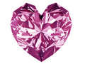 Pink diamond heart Royalty Free Stock Photo