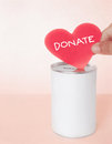 Pink donation make a by love Stock Photography