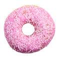 Pink Donut With White Sprinkles Royalty Free Stock Photo