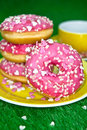 Pink Donuts Royalty Free Stock Photo