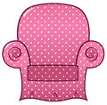 Pink dotted chair clipart Stock Photo