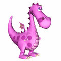 Pink Dragon Cartoon Royalty Free Stock Image
