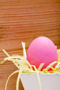 Pink  dyed easter egg Royalty Free Stock Image