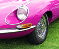 Pink e type jaguar Stock Photo