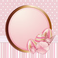 Pink Easter egg border Royalty Free Stock Photo