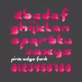 Pink edge font