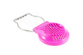 Pink egg slicer plastic cutter isolated on a white background Royalty Free Stock Image
