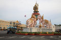 Pink elephant statue on Sanam Luang junction Stock Images
