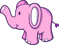 Pink Elephant Vector Royalty Free Stock Photo